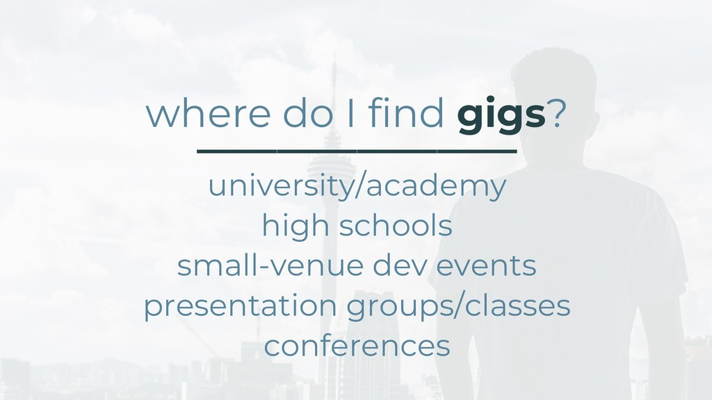 where do I find gigs? ________________ universi...