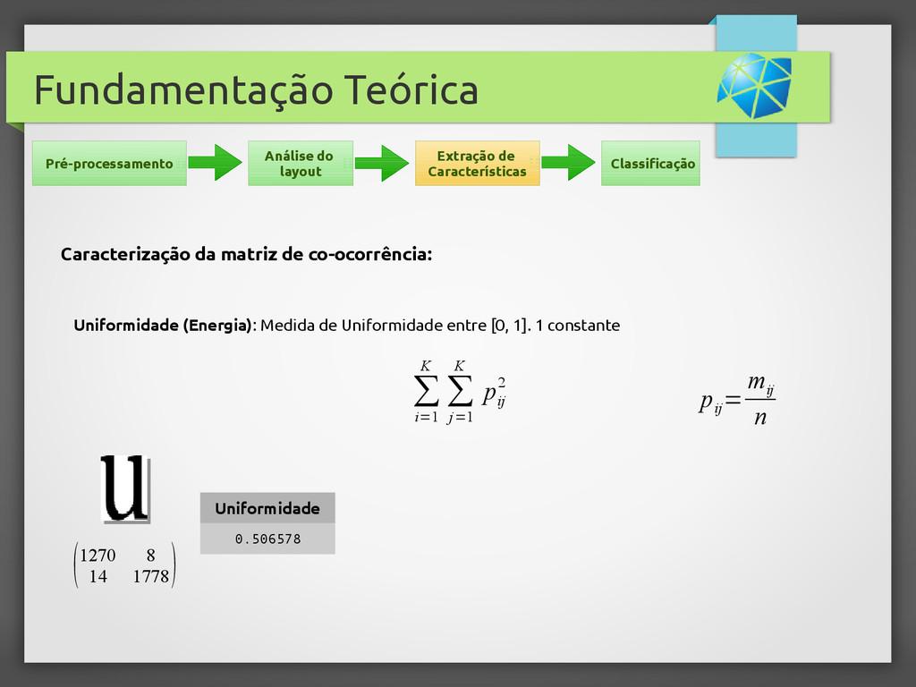 Fundamentação Teórica Uniformidade (Energia): M...