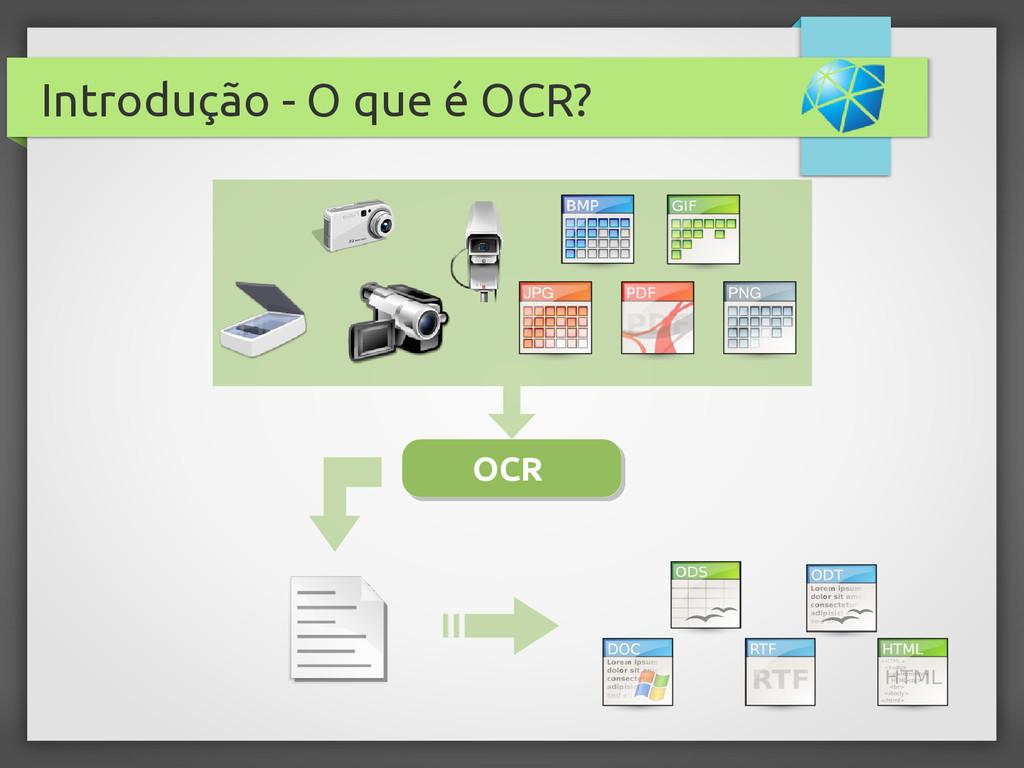 Introdução - O que é OCR? OCR OCR