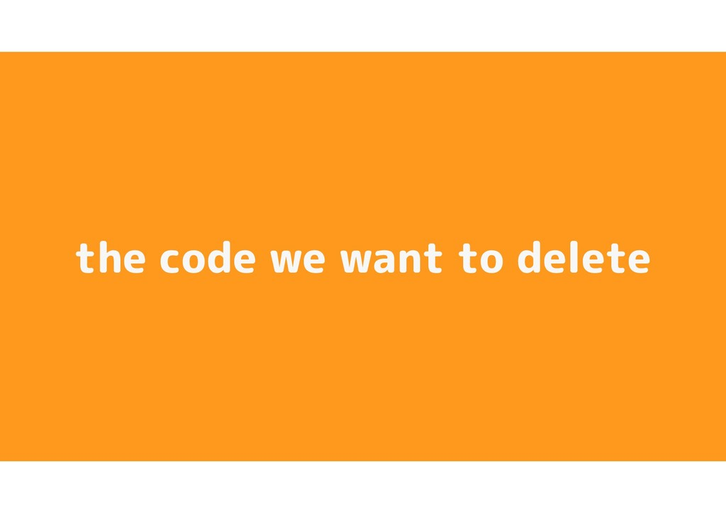 the code we want to delete