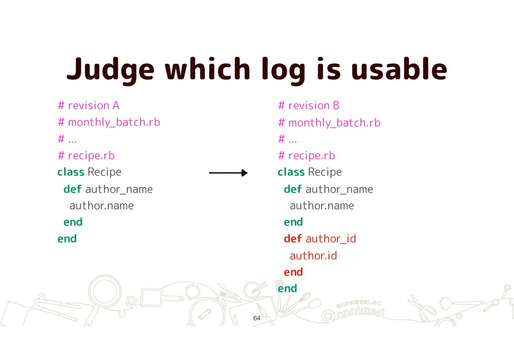 Judge which log is usable !64 # revision A # mo...