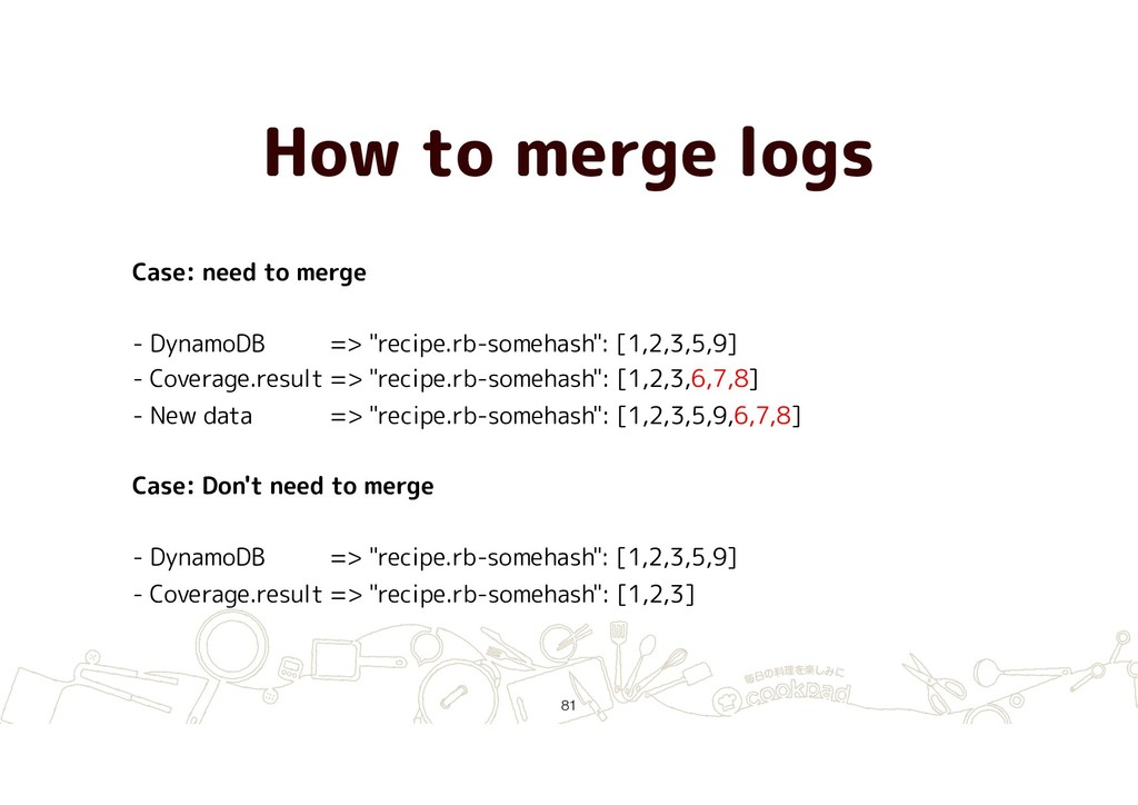 How to merge logs !81 Case: need to merge - Dyn...