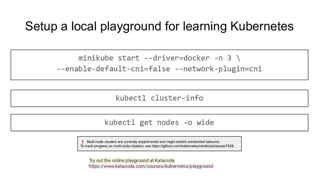 Setup a local playground for learning Kubernete...