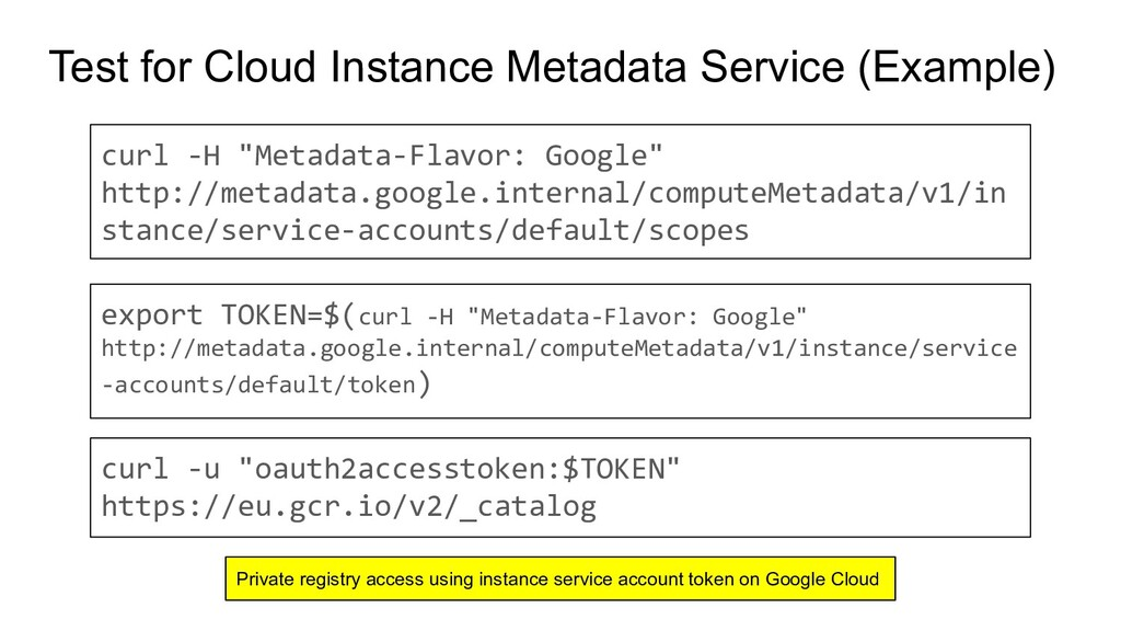 Test for Cloud Instance Metadata Service (Examp...