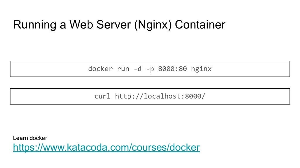 Running a Web Server (Nginx) Container docker r...