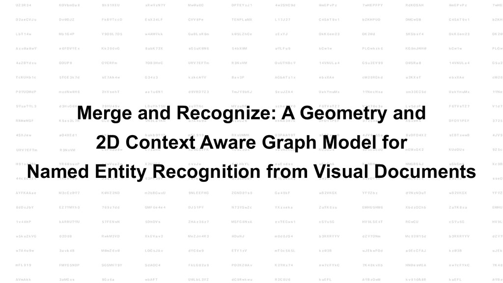 Merge and Recognize: A Geometry and 2D Context ...