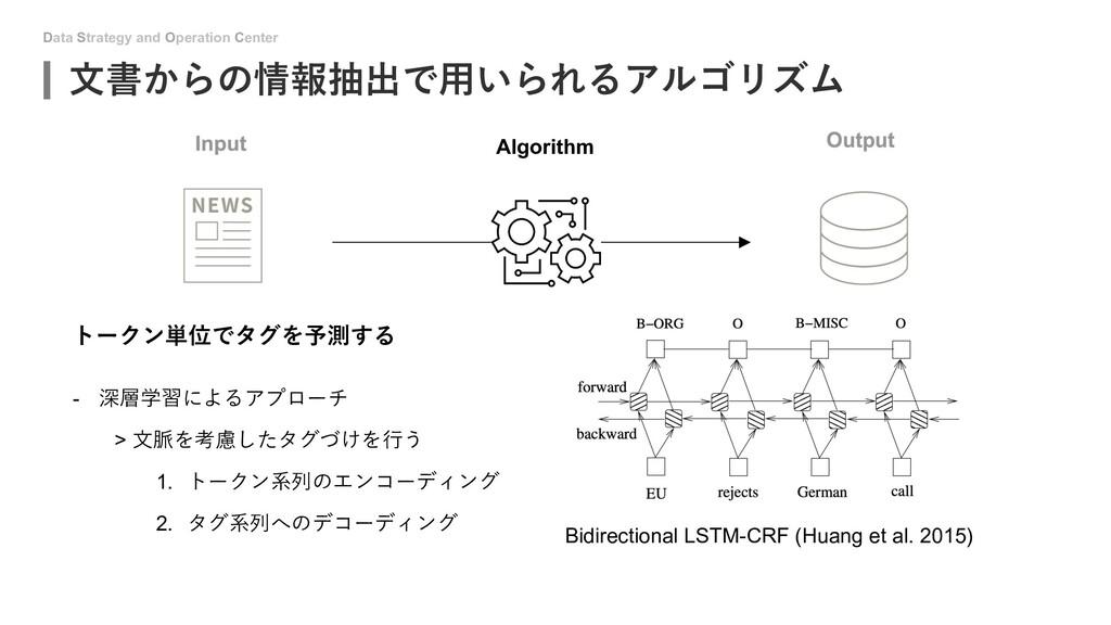 Data Strategy and Operation Center ⽂書からの情報抽出で⽤い...