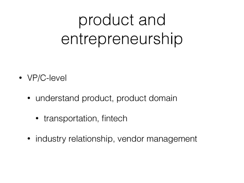 product and entrepreneurship • VP/C-level • und...