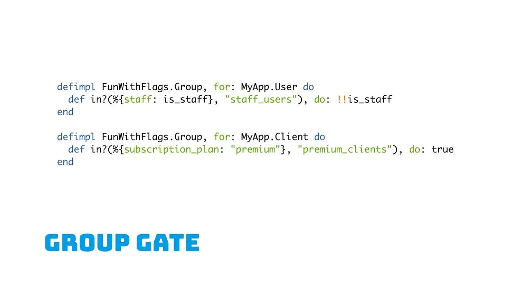 GROUP gate defimpl FunWithFlags.Group, for: MyA...