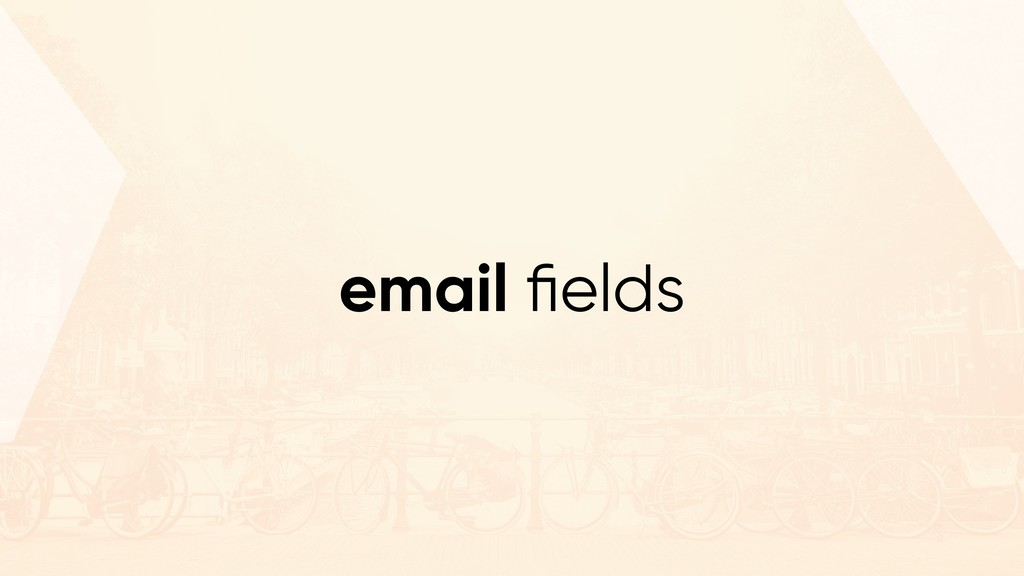 email fields