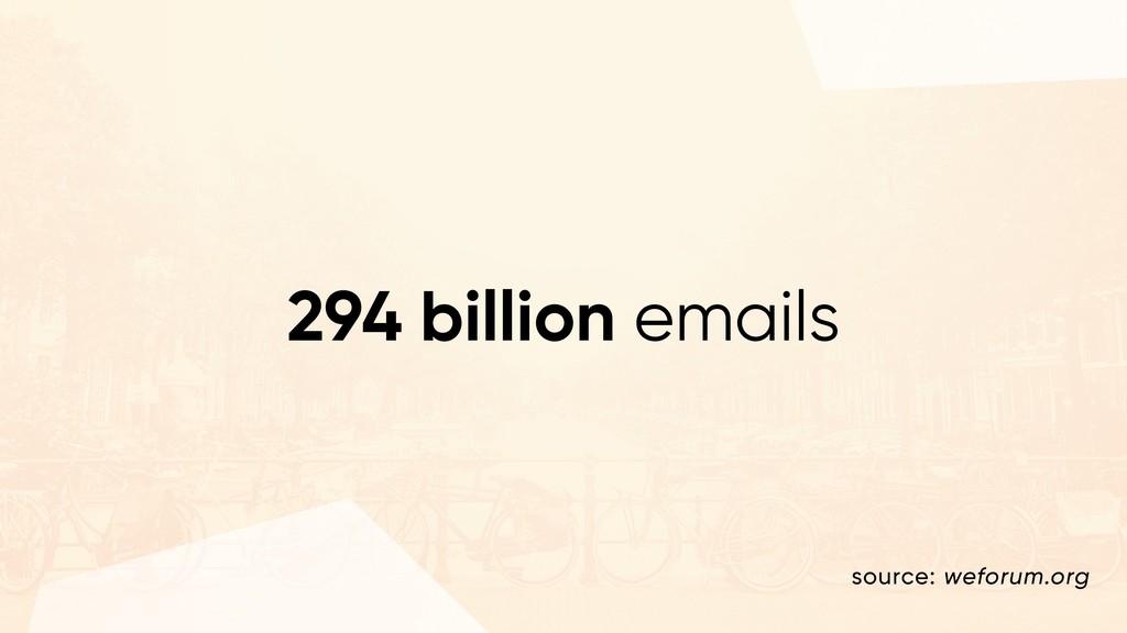 294 billion emails source: weforum.org