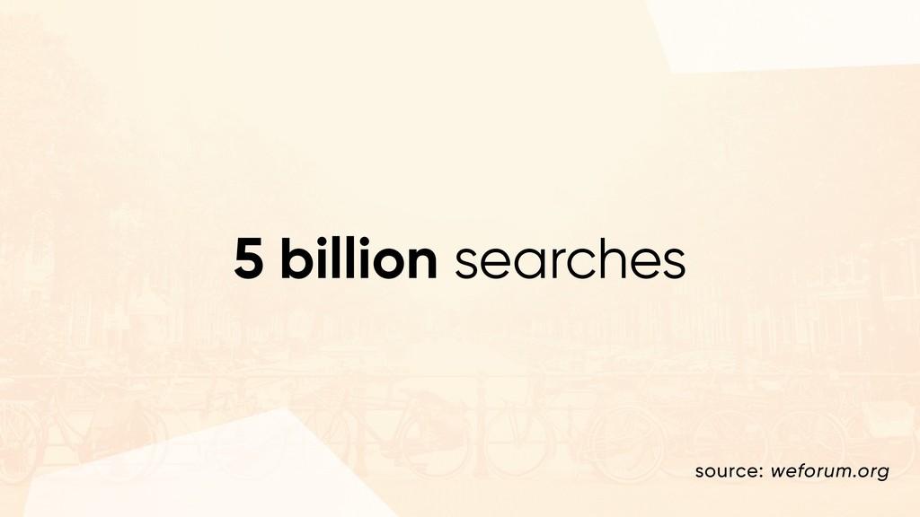 5 billion searches source: weforum.org