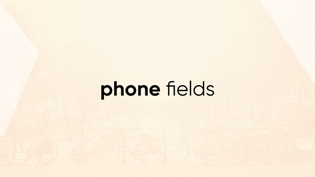 phone fields
