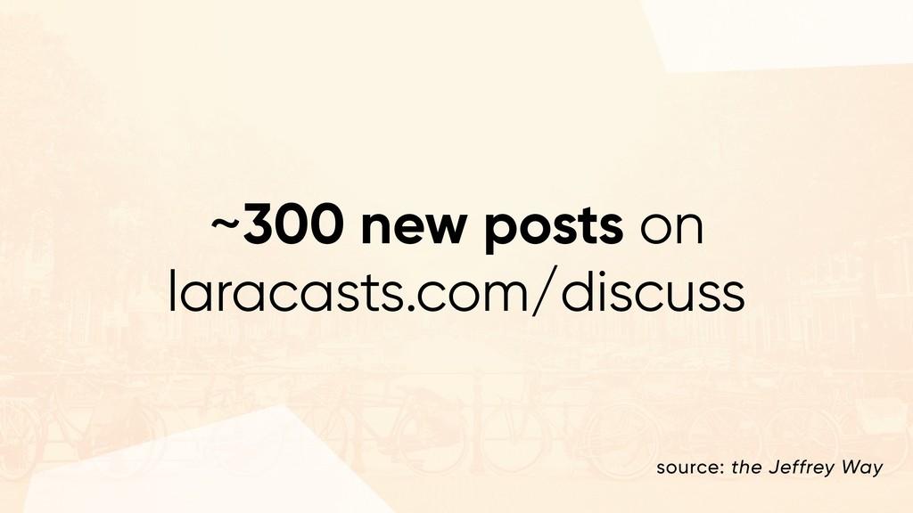~300 new posts on laracasts.com/discuss source:...