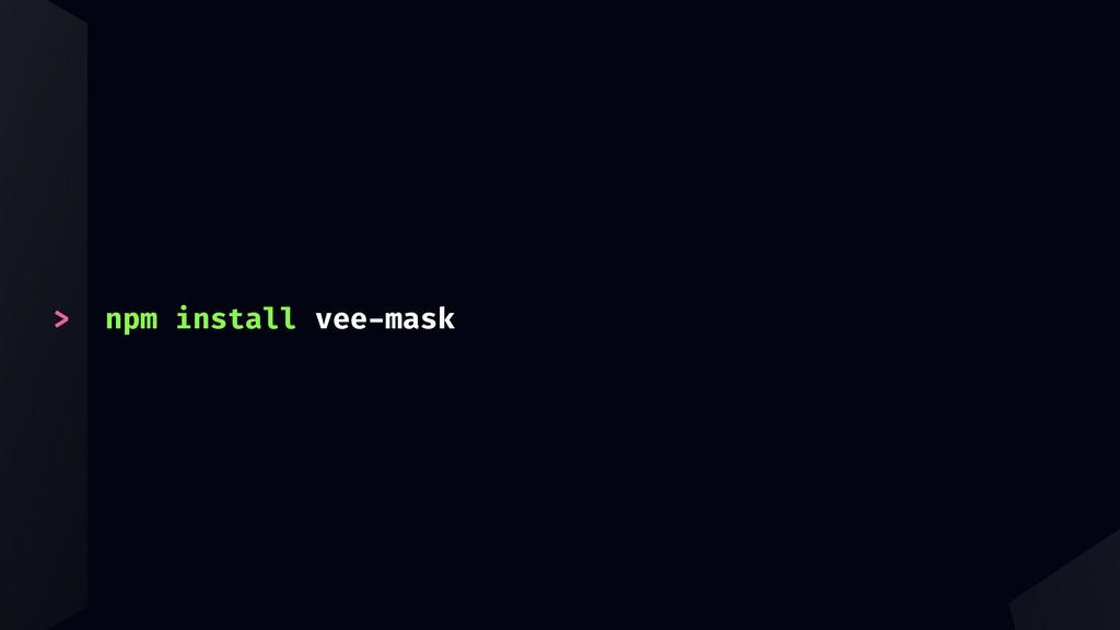 > npm install vee-mask