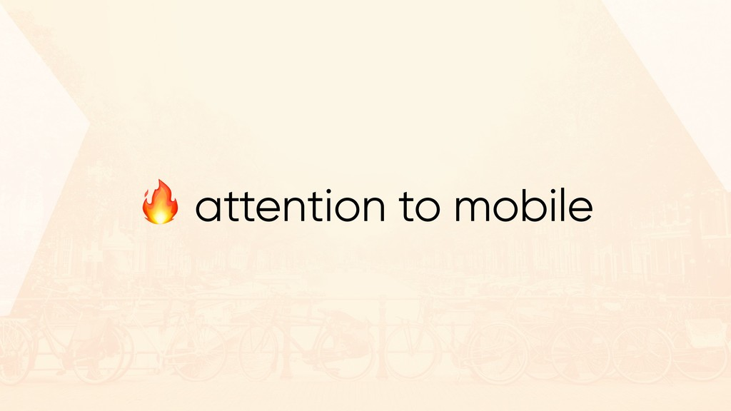 """"""" attention to mobile"""