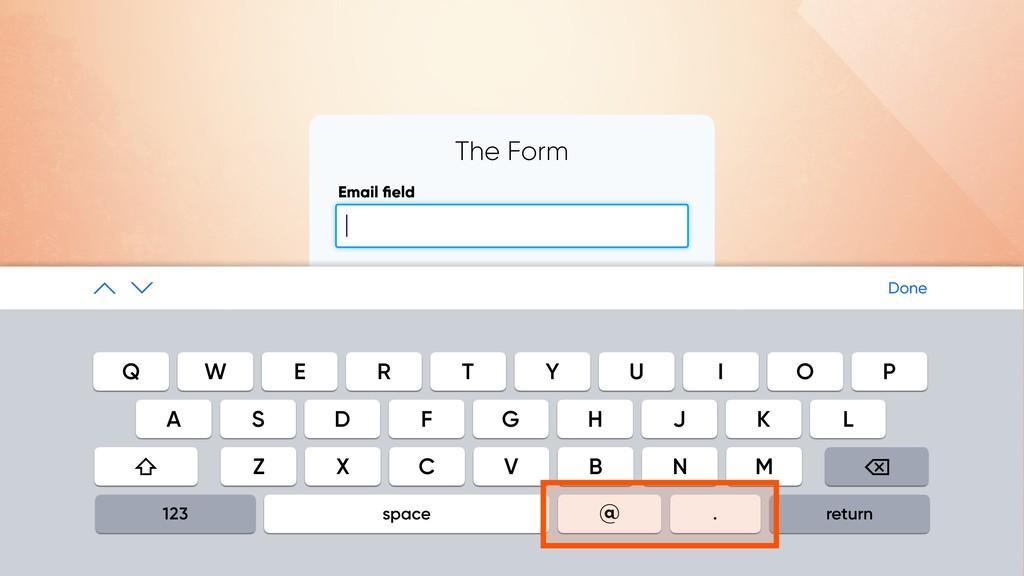 SUBMIT The Form Email field | Done Q W E R T Y U...