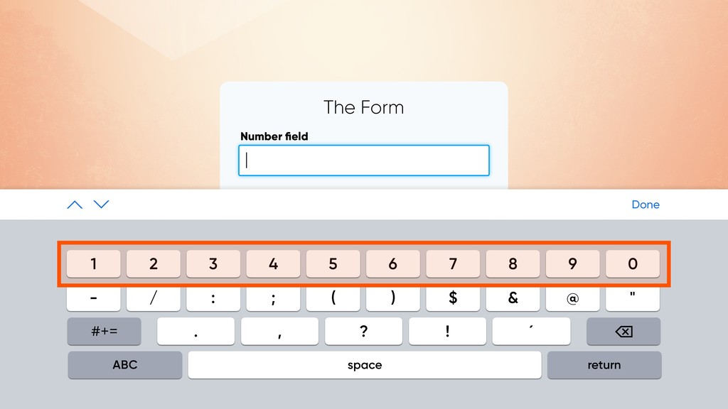 The Form Number field SUBMIT | Done 1 2 3 4 5 6 ...
