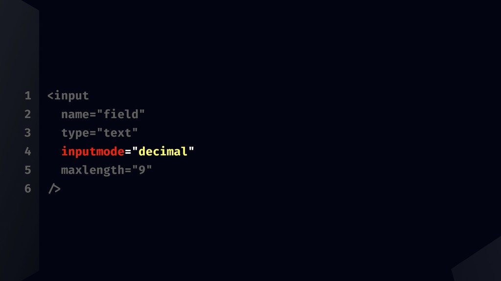 "1 2 3 4 5 6 <input name=""field"" type=""text"" inp..."