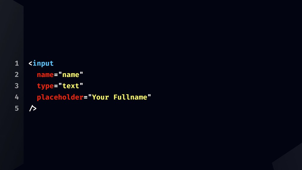 "1 2 3 4 5 <input name=""name"" type=""text"" placeh..."