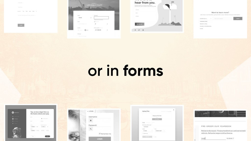 or in forms