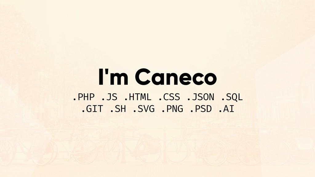 I'm Caneco .PHP .JS .HTML .CSS .JSON .SQL .GIT ...