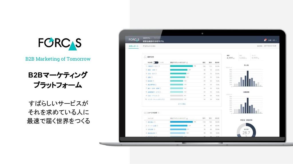 B2B Marketing of Tomorrow B2Bマーケティング プラットフォーム す...