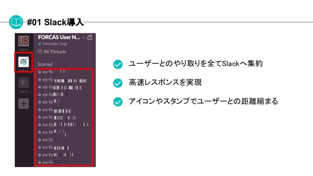 #01 Slack導入 ユーザーとのやり取りを全てSlackへ集約 高速レスポンスを実現 アイ...