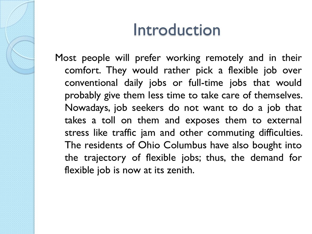 Introduction Most people will prefer working re...