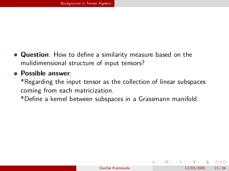 Background in Tensor Algebra Question: How to d...
