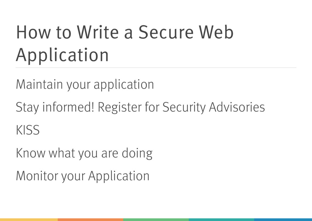 How to Write a Secure Web Application Maintain ...
