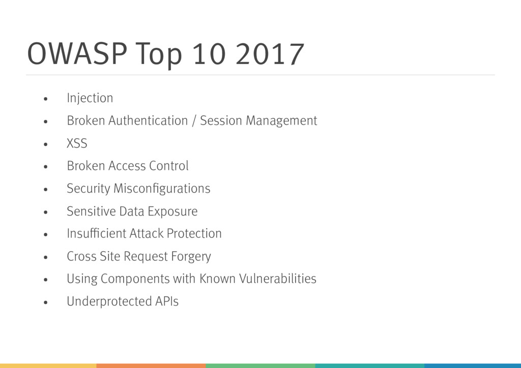 OWASP Top 10 2017 Injection Broken Authenticati...