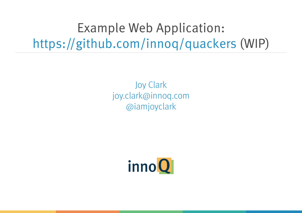 Example Web Application: (WIP) https://github.c...