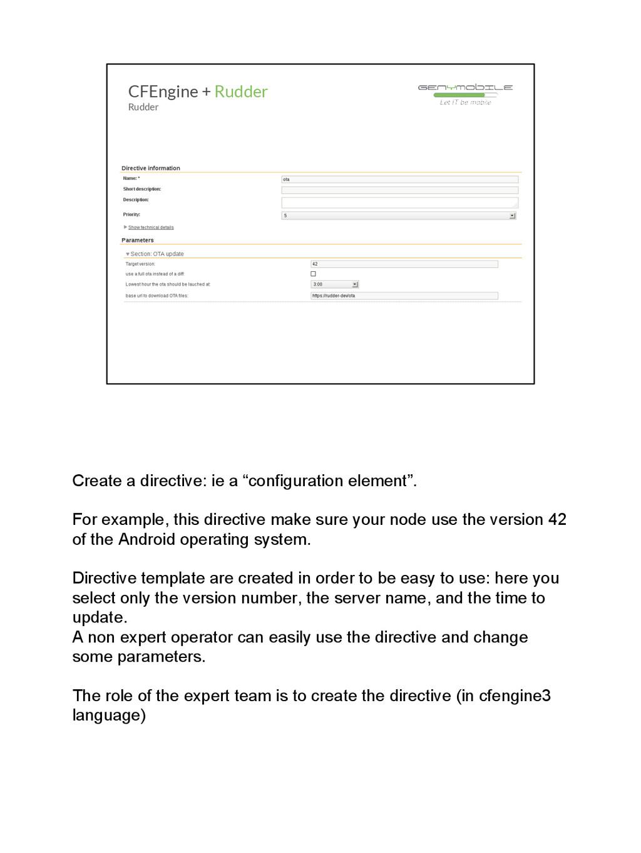"Create a directive: ie a ""configuration element..."
