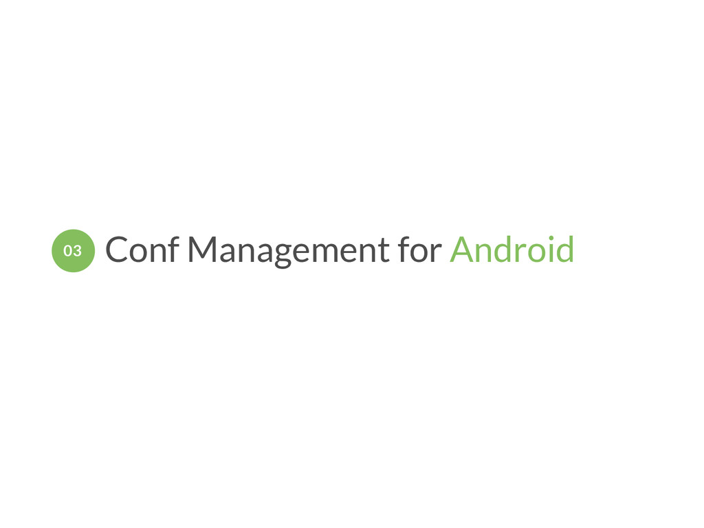 Conf Management for Android 03