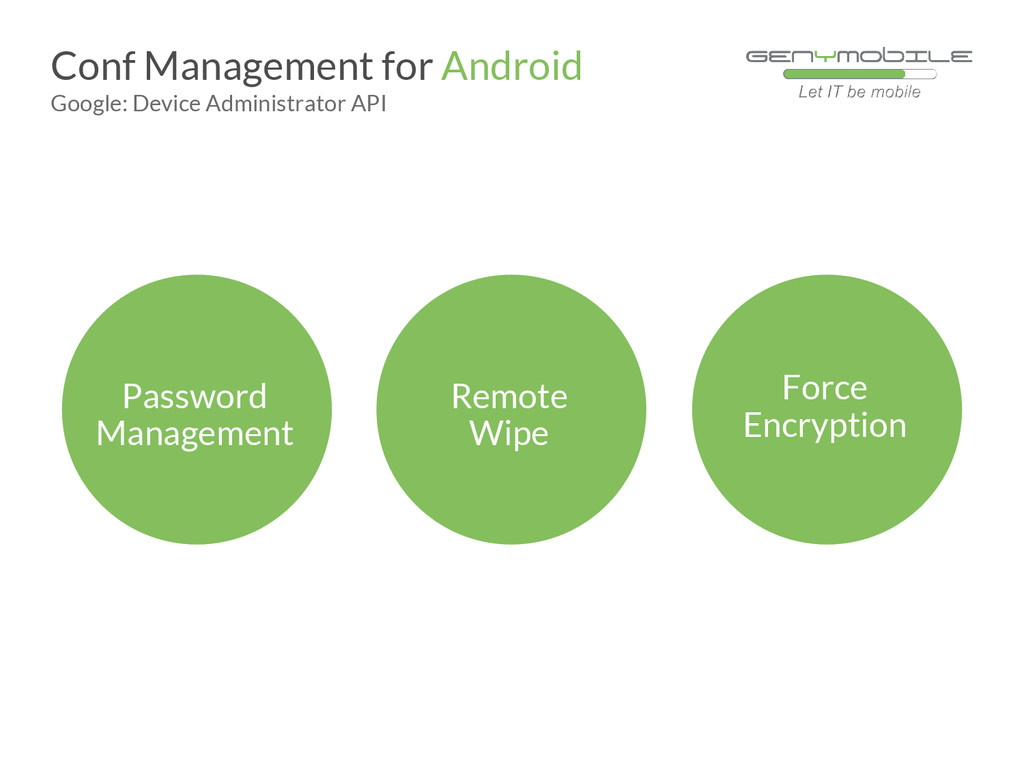 Password Management Conf Management for Android...