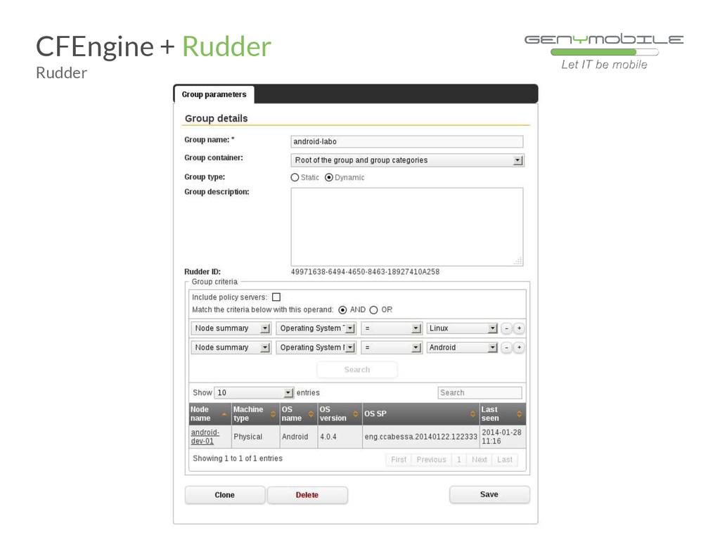 CFEngine + Rudder Rudder