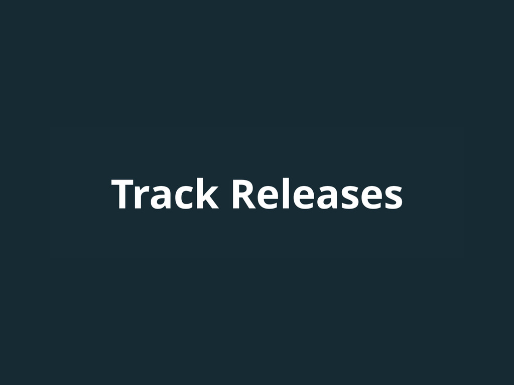 Track Releases