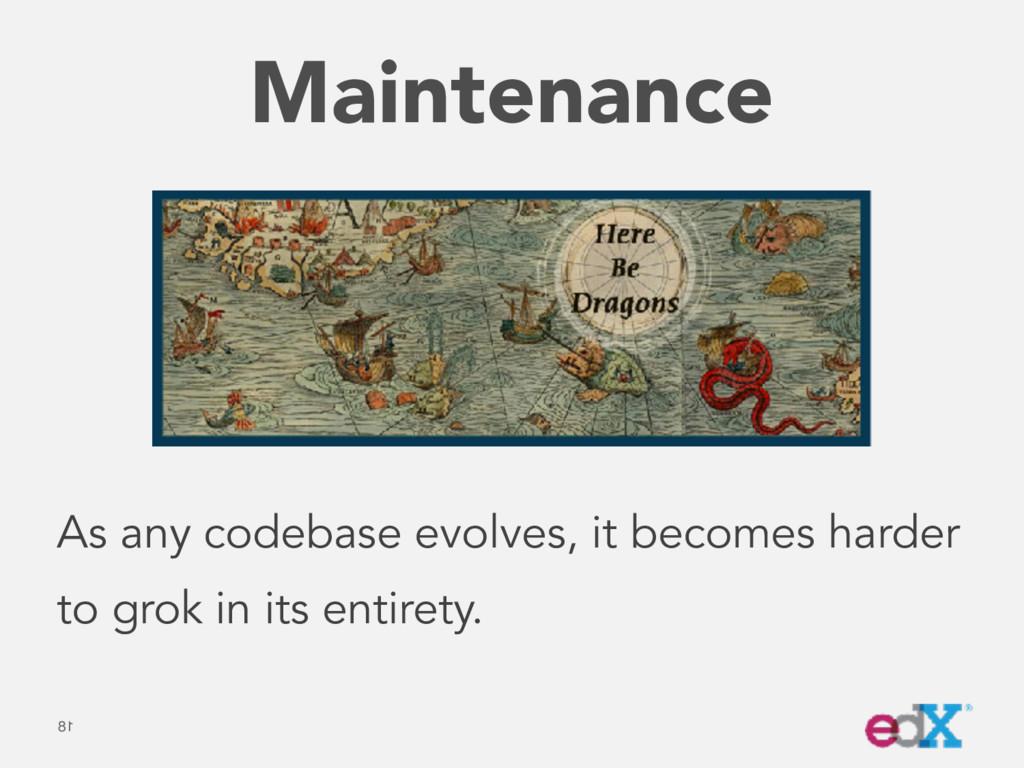 Maintenance 18 As any codebase evolves, it beco...