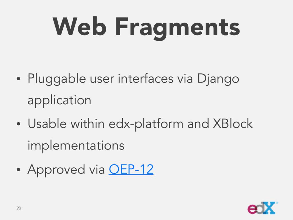 Web Fragments • Pluggable user interfaces via D...