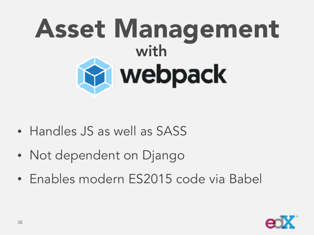 Asset Management 30 with • Handles JS as well a...