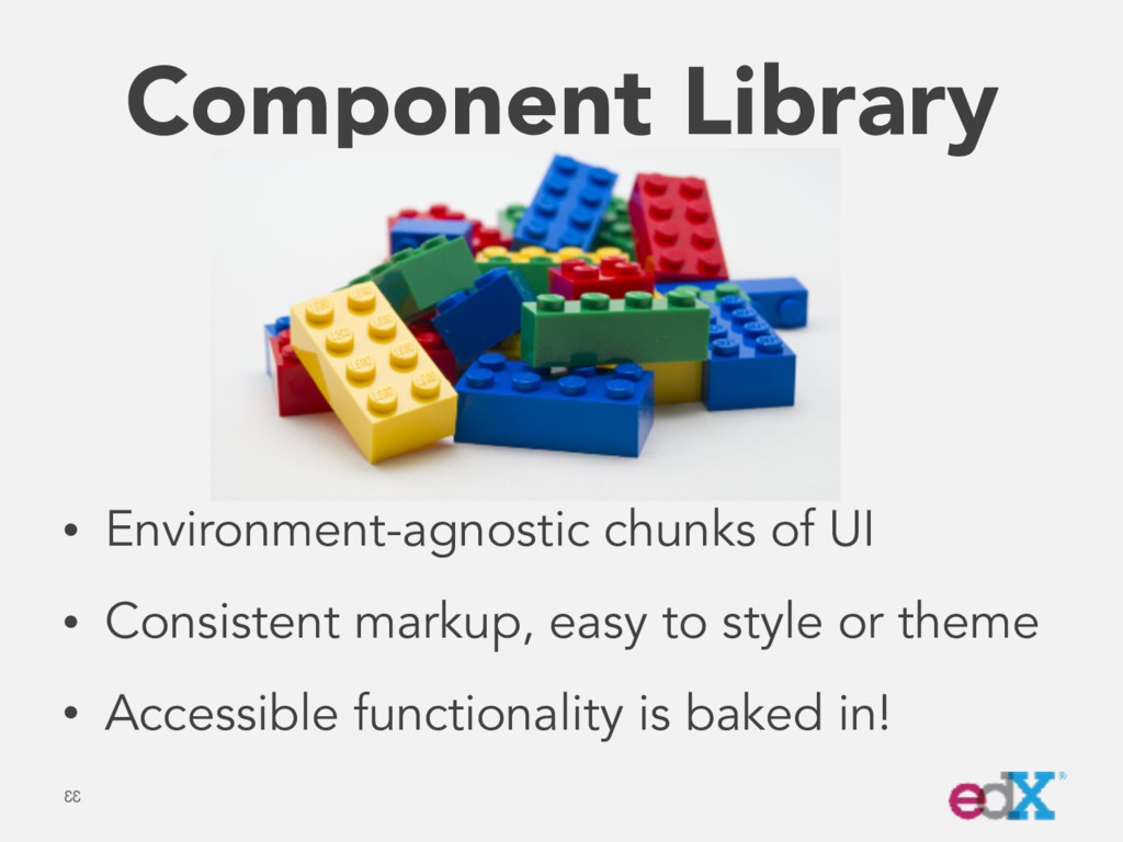 Component Library • Environment-agnostic chunks...