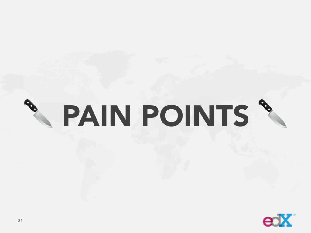 10  PAIN POINTS