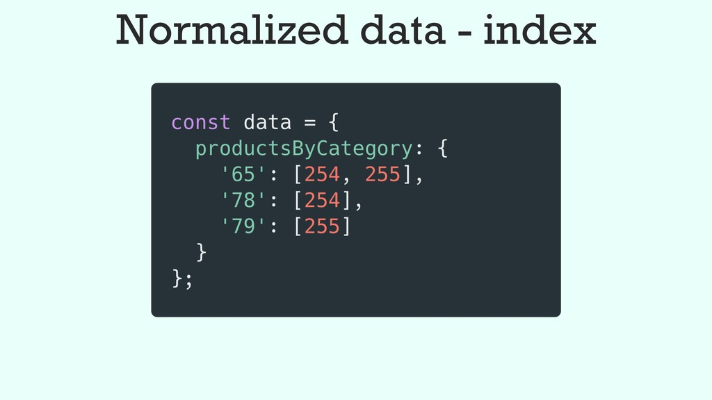 Normalized data - index