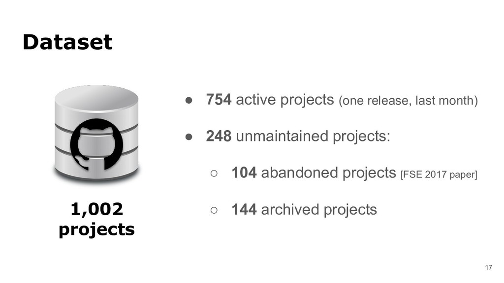 ● 754 active projects (one release, last month)...