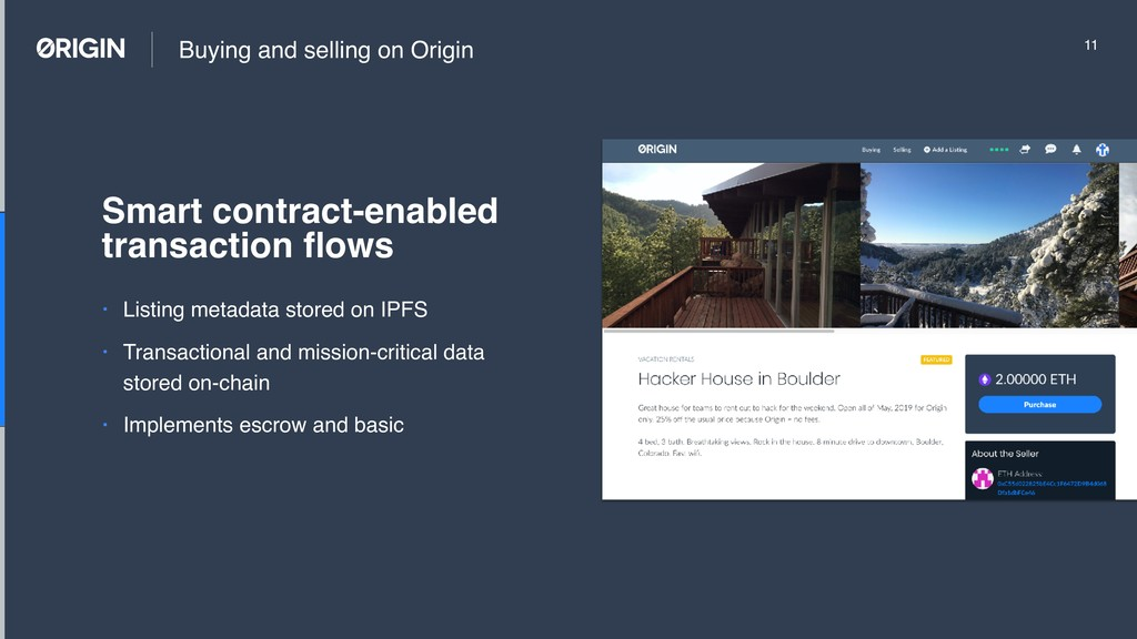 Buying and selling on Origin • Listing metadata...