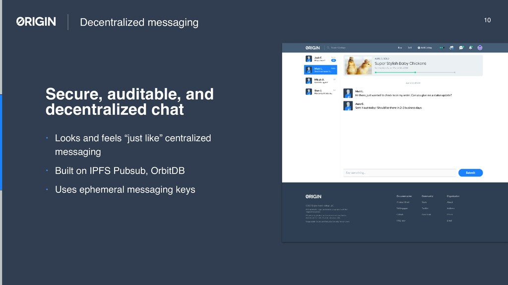 """Decentralized messaging • Looks and feels """"just..."""