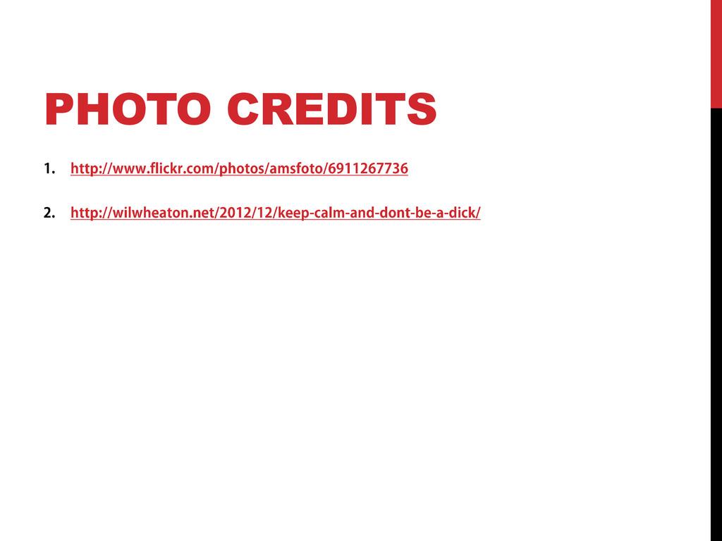 PHOTO CREDITS