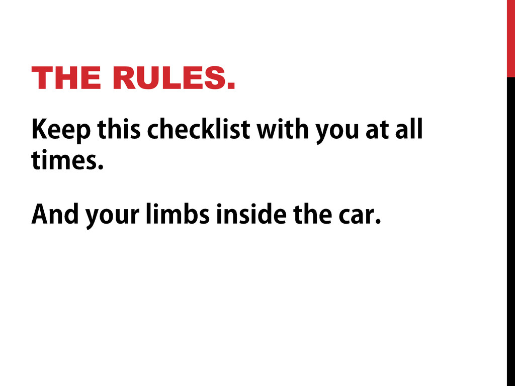 THE RULES.