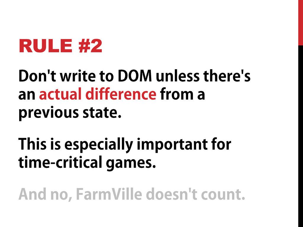 RULE #2